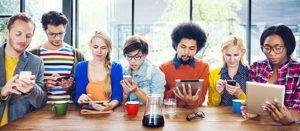 Millennials Socializing