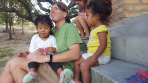 Family Friend, Reid Lesneski, enjoying the attention